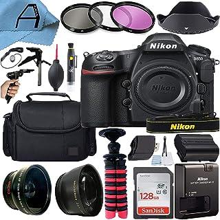 Nikon D850 DSLR Camera Body 45.7MP CMOS Sensor with SanDisk 128GB Memory Card, Gadget Bag, Tripod and A-Cell Accessory Bun...