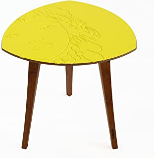"""Tavolinetto basso design con ricarica wireless testa di moro -""""mora"""" (Ricarica Wireless)"""