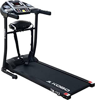 Kobo Fitness 1 H.P (2 H.P Peak) Motorized Manual Incline Treadmill with Massager Multi Function and Free Installation Assi...
