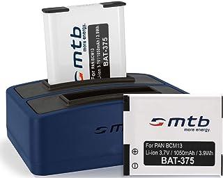 2 Batterie + Caricabatteria doppio (USB) per DMW-BCM13 /Panasonic Lumix DMC-FT5, TS6, TZ37, TZ40, TZ60, TZ70, TZ71, ZS30, ...