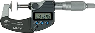 Mitutoyo 323-350 Digimatic Disk Micrometer, Inch/Metric, 0.787