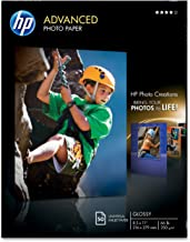 HP Q7853A - Papel fotográfico (Blanco, Brillo, 250 g/m²,