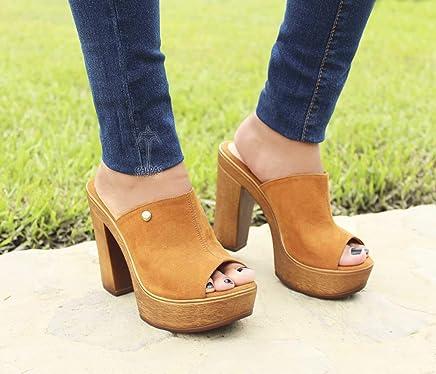 6ece817564036 Super Trendy Handmade Leather Sandals Open Toe Clogs Wedge Sandals -  VICTORIA