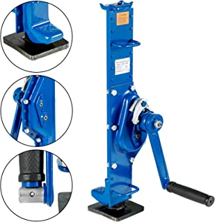 Mophorn Gato para Coche Capacidad 1.5T Azul Gato Mecánico de Mano Freno Automático Gato para Granja Fábrica Coches