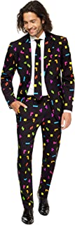 OppoSuits Men's Prom Suits Pac-Man – Comes with Jacket, Pants and Tie in Funny Designs