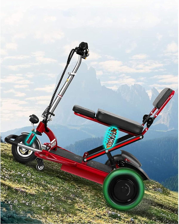 Scooter De Movilidad De 3 Ruedas Scooters De Ayuda a La Movilidad Ligeros Y Motorizados Scooter Eléctrico Plegable Para Viajes Adultos Ancianos - Batería De Larga Duración Con Batería Extendida