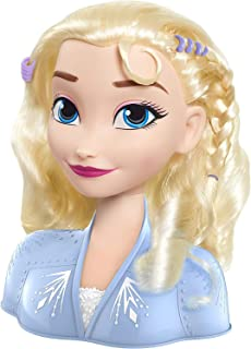 JP Disney Styling Frozen 2 Elsa Styling Head, Dolls and Accessories, Pretend Play, Gifts for Kids 3 and Up