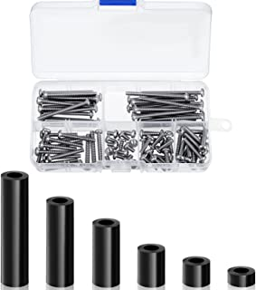 150 Pieces Electrical Outlet Extender Kit 60 Pieces Outlet Screw Spacers and 90 Pieces 6-32 Thread Flat Head Device Mounti...