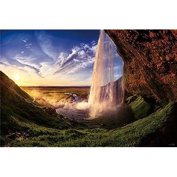 1000ピース ジグソーパズル KAGAYA アイスランドの夕日(セリャラントスフォス)(50x75cm)