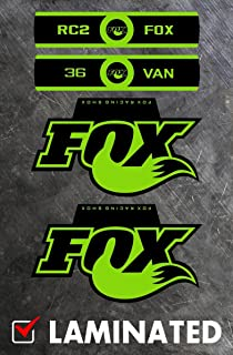 Fox Bicycle Forks Decals Stickers Heavy Duty Replacement Graphic Set