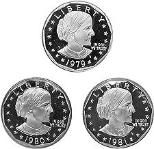 1979 1980 1981 P D S Susan B Anthony Dollar $1 US Mint Proof