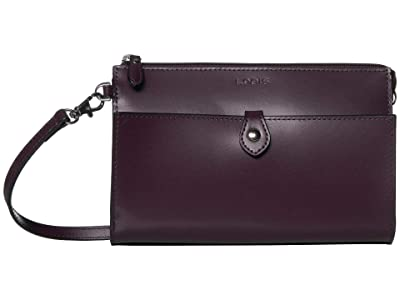 Lodis Accessories Audrey RFID Vicky Convertible Crossbody Clutch (Deep Plum/Ivy) Clutch Handbags