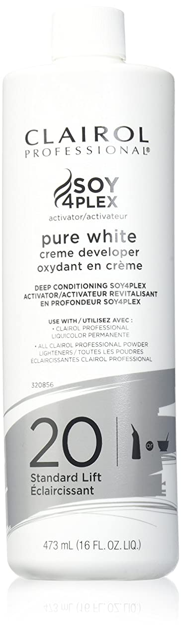 ビジネスワームチャーターCLAIROL PURE WHITE 20 CREME DEVELOPER STANDARD LIFT 470 ml