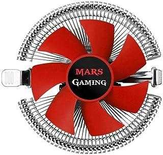 Mars Gaming MCPU1V2, Disipador CPU, PWM 90mm,Perfil Bajo+Soporte Hidráulico,Rojo