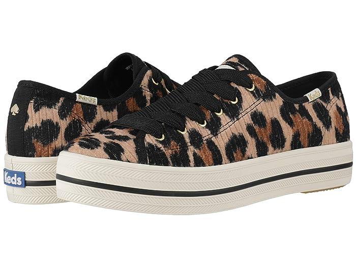 Keds x kate spade new york  Triple Kick Corduroy (Leopard) Womens Shoes