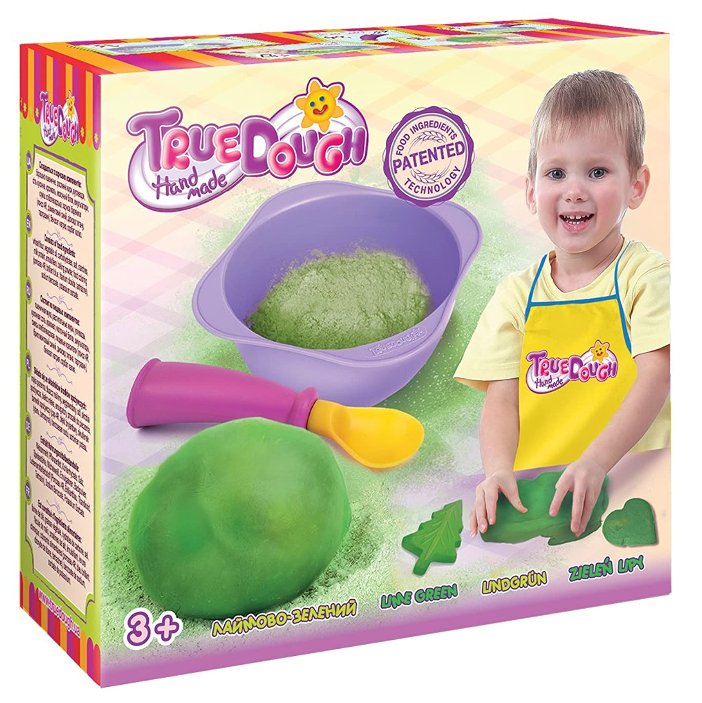TrueDOUGH 21016 Make Your Own Modelling Dough Single Pack Set, Lime Green