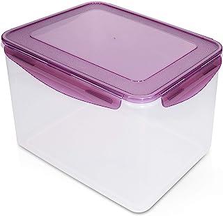 Navaris Boîte Alimentaire - Boite hermétique sans BPA 9 L rectangulaire avec Couvercle - Conservation Aliment frigo congél...
