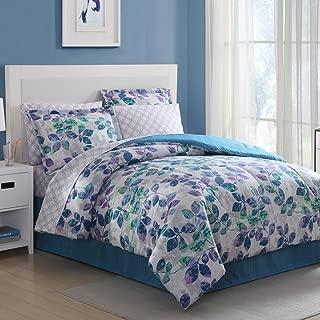 Ellison Great Value Abela 8 Piece Ba, Queen Bed in a Bag, Blue