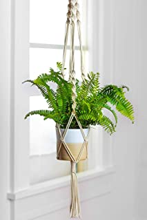 ecofynd® Macrame Cotton Boho Plant Hanger [Without Pot] | Rope Flower Pot Holder for Indoor Outdoor Balcony Gardening | Ho...