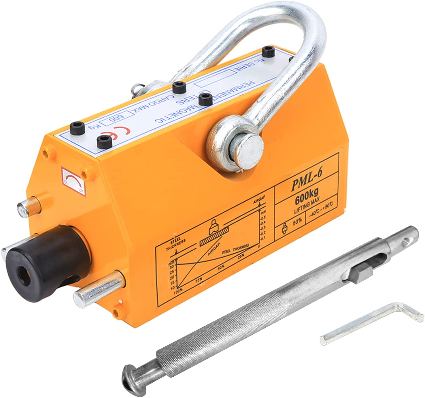 Hoist Lifting Magnet, Easy to Operate 600KG Steel Magnetic Lifte