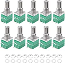 uxcell Potentiometer with Switch B100K Ohm Variable Resistors Single Turn Rotary Carbon Film Taper RV097NS 10pcs