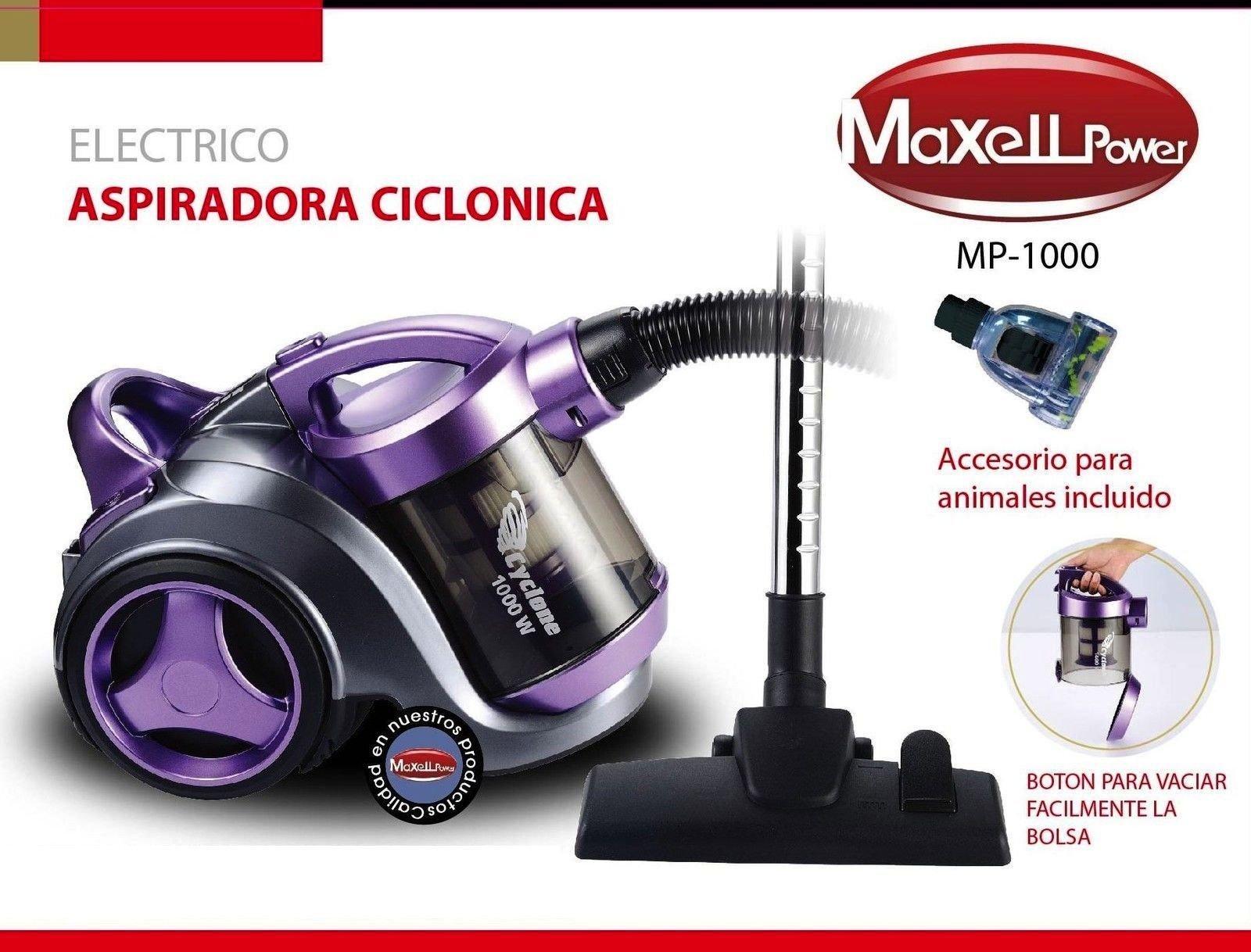 MAXELLPOWER Aspirador aspiradora ciclónico sin Bolsa Filtro hepa Boquilla Animales Incluido 1000W de Potencia Exclusiva para Clientes: Amazon.es: Hogar