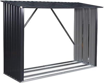 Yardmaster 6 x 4 metal caseta de jardín con marco de soporte de ...