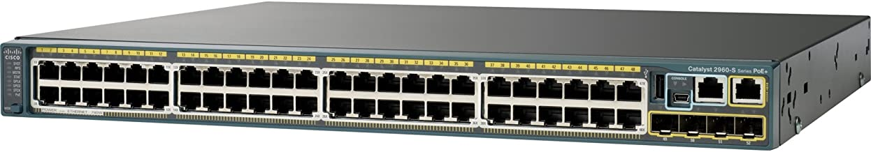 Catalyst 2960S Stack 48GIGE CPNT4X SFP LAN Base IN