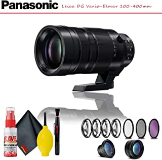 Panasonic Leica DG Vario-Elmar 100-400mm f/4-6.3 ASPH. Power O.I.S. Lens with Complete Filter Kit and Cleaning Kit
