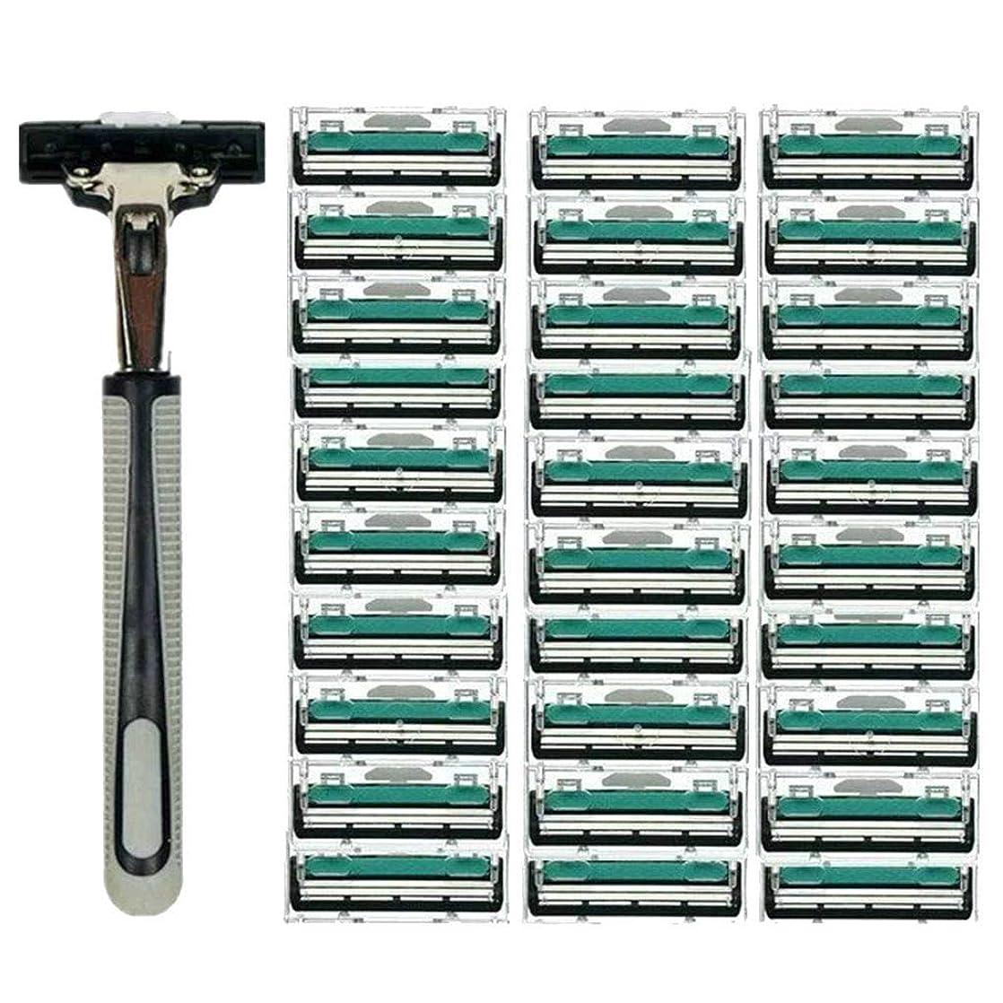無礼に狂人等しいTopFires 髭剃り 男性カミソリ 替刃30個付 安全性 大容量 …