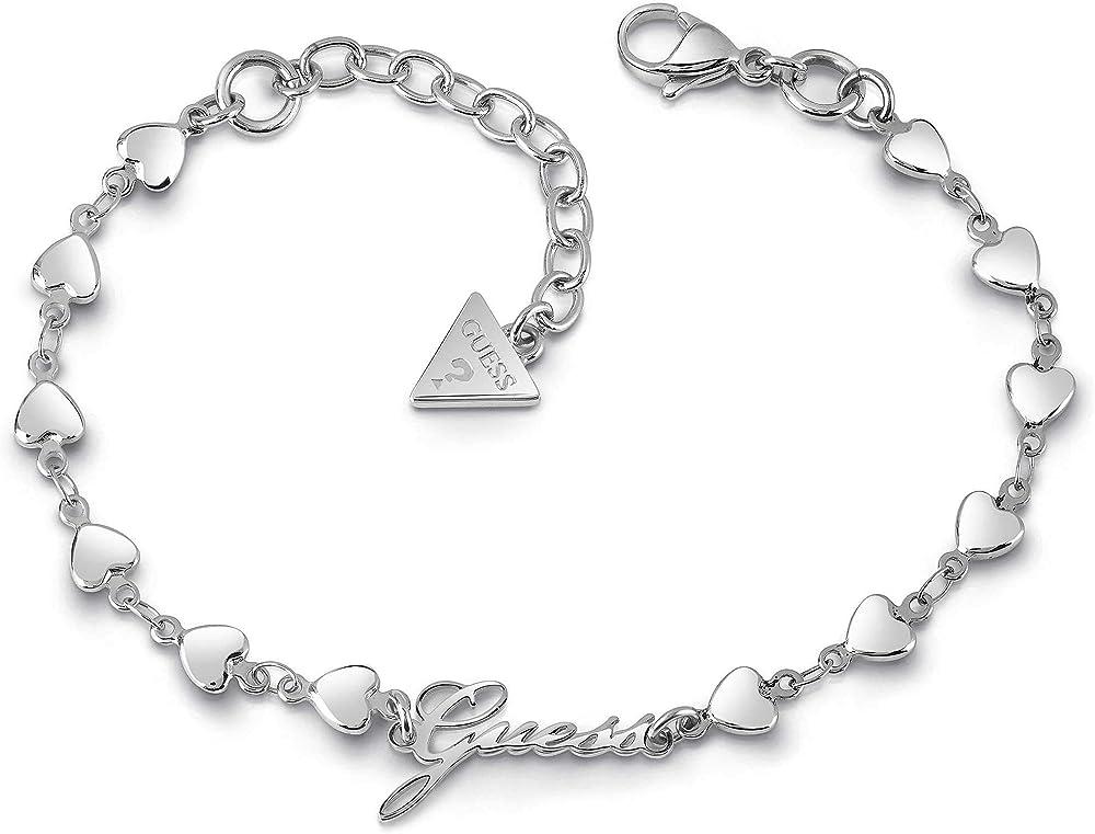 Guess bracciale per donna in acciaio placcato argento UBB28006-S