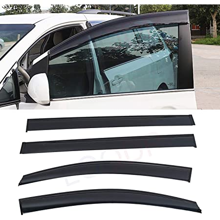 Window Visor Fits for Toyota Sienna 2004-2009 Black Sun Rain Guard Window Vent