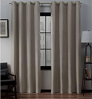 Exclusive Home Curtains Loha Linen Grommet Top Curtain Panel Pair, 52x84, Beige