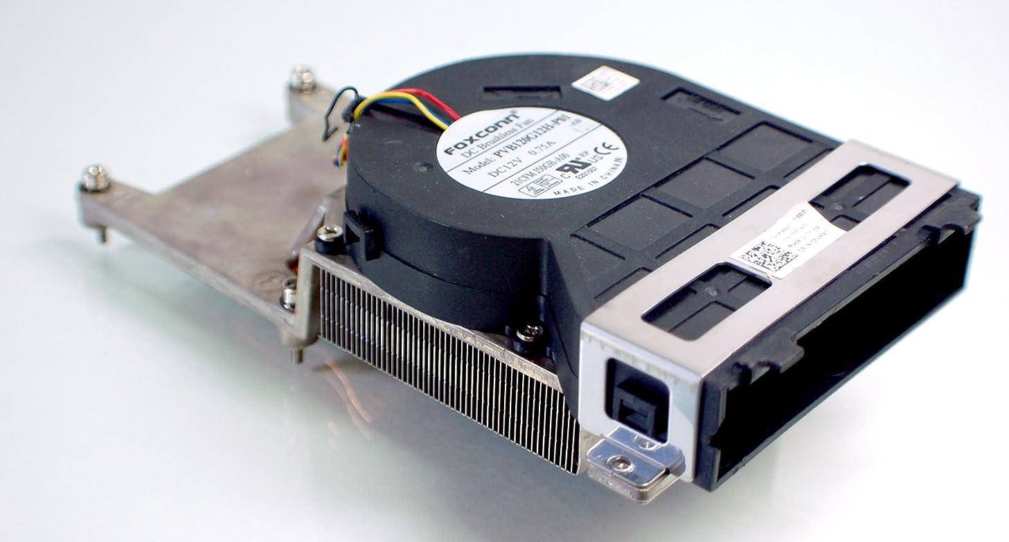 FVMX3 Genuine OEM DELL Optiplex 790 990 SFF Small Form Factor Desktop CPU Internal Cool Copper Processor FOXCONN J50GH Fan Blower Housing Cool Heatsink Bracket Assembly