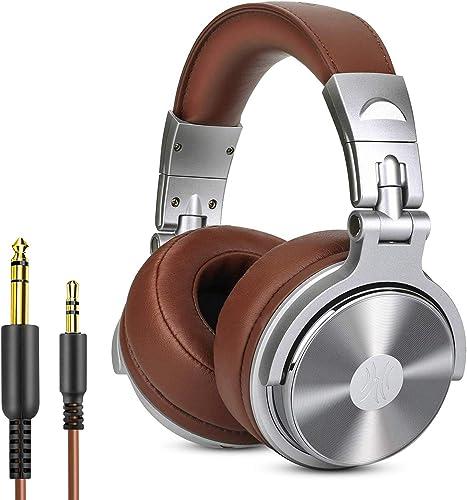 Casque DJ Fermé, OneOdio Pro30 Casque Filaire Casque Studio Casque de Monitoring Casque Audio Filaire avec Les Haut-P...