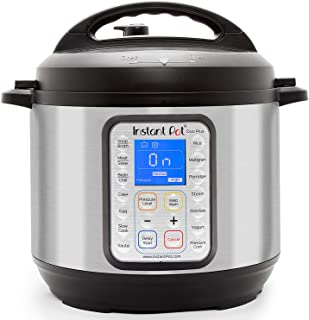 Instant Pot 60 DUO Plus 6 Qt 9-in-1 Multi-Use Programmable Pressure, Slow, Rice, Yogurt Maker, Egg Cooker, Sauté, Steamer, Warmer, and Sterilizer, Stainless Steel/Black