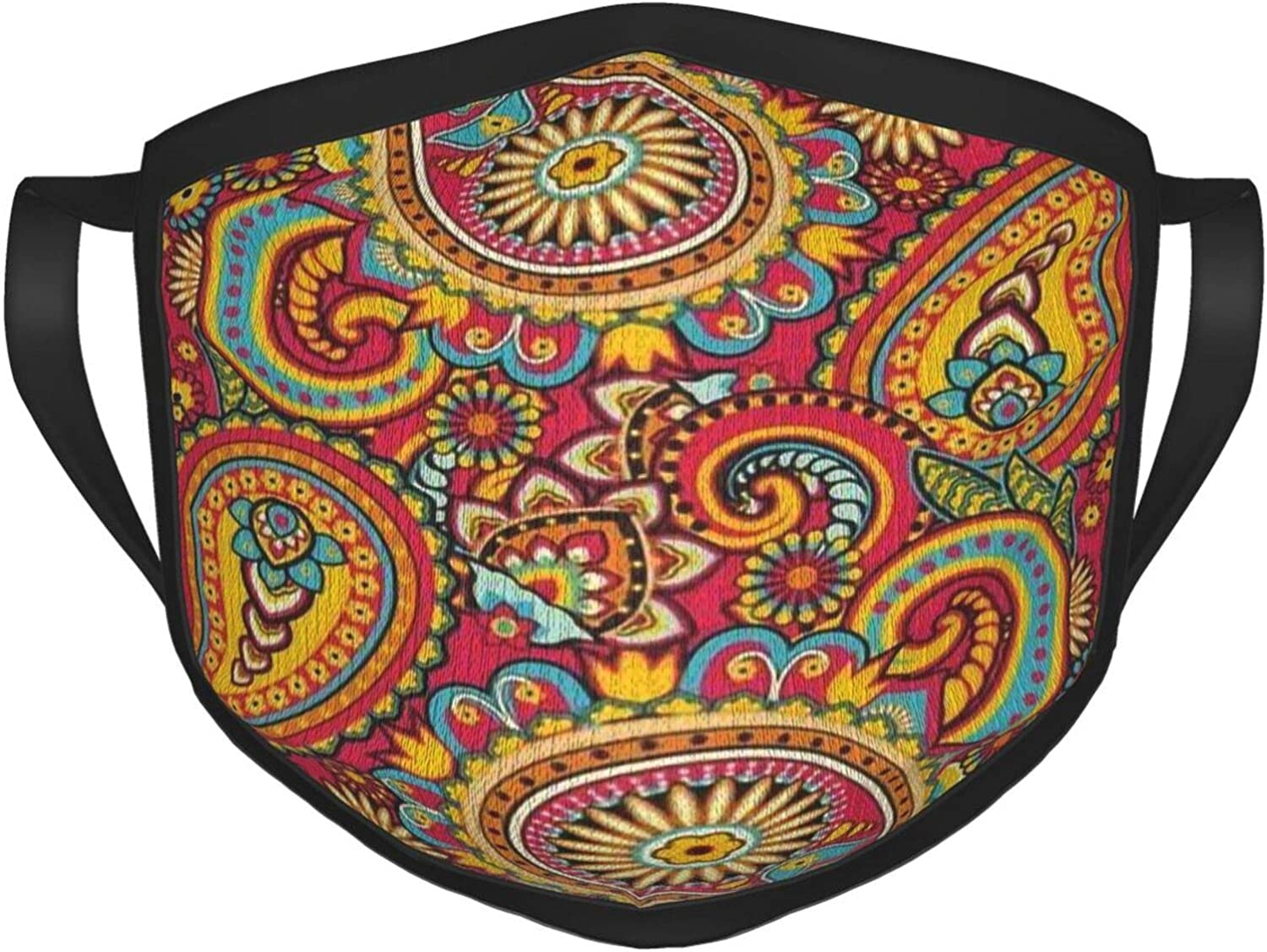 LANJYF 2 Packs Reusable Mouth Wear, Paisley Pattern Unisex Face Cloth