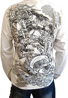 和柄 Tシャツ 長袖 メンズ 悪羅悪羅系 オラオラ系 風神雷神 ロンT 長袖Tシャツ 大きいサイズ 風神雷神柄 mtl202