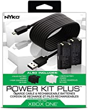 Nyko Power Kit Plus - 2 Pack Rechargeable Battery and Replacement Cover with Micro-USB Charging Cable for Xbox One