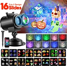 Christmas LED Projector Lights, 2-in-1 Ocean Wave Moving Patterns Holiday Light with 16 Slides 10 Wave Colors, Waterproof Outdoor Indoor for Xmas Wedding Party Halloween Courtyard Decoration