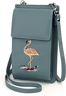 UTO Women Small Crossbody Bag Simple Roomy Zipper Pocket Cell Phone Wallet Card Holder Shoulder Purse