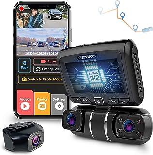 REXING S1 traço Cam 3 Canal-Front, Rear, Cabin 1080P + 720p + 720p, visão noturna infravermelha, Estacionamento Monitor, W...