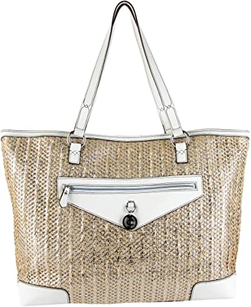 ae095f2c311bb Juicy Couture Metallic Palm Spring Tote Bag