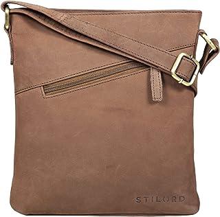 """STILORD Stella"""" Vintage Handtasche Damen Leder klein zum Umhängen Schultertasche für Freizeit Shopping Abend Tablettasche Echtleder"""