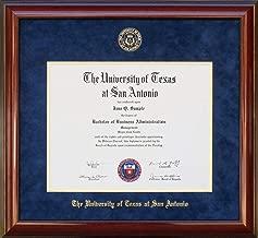 Wordyisms UT San Antonio (UTSA) Diploma Frame with Embossed Suede Mat