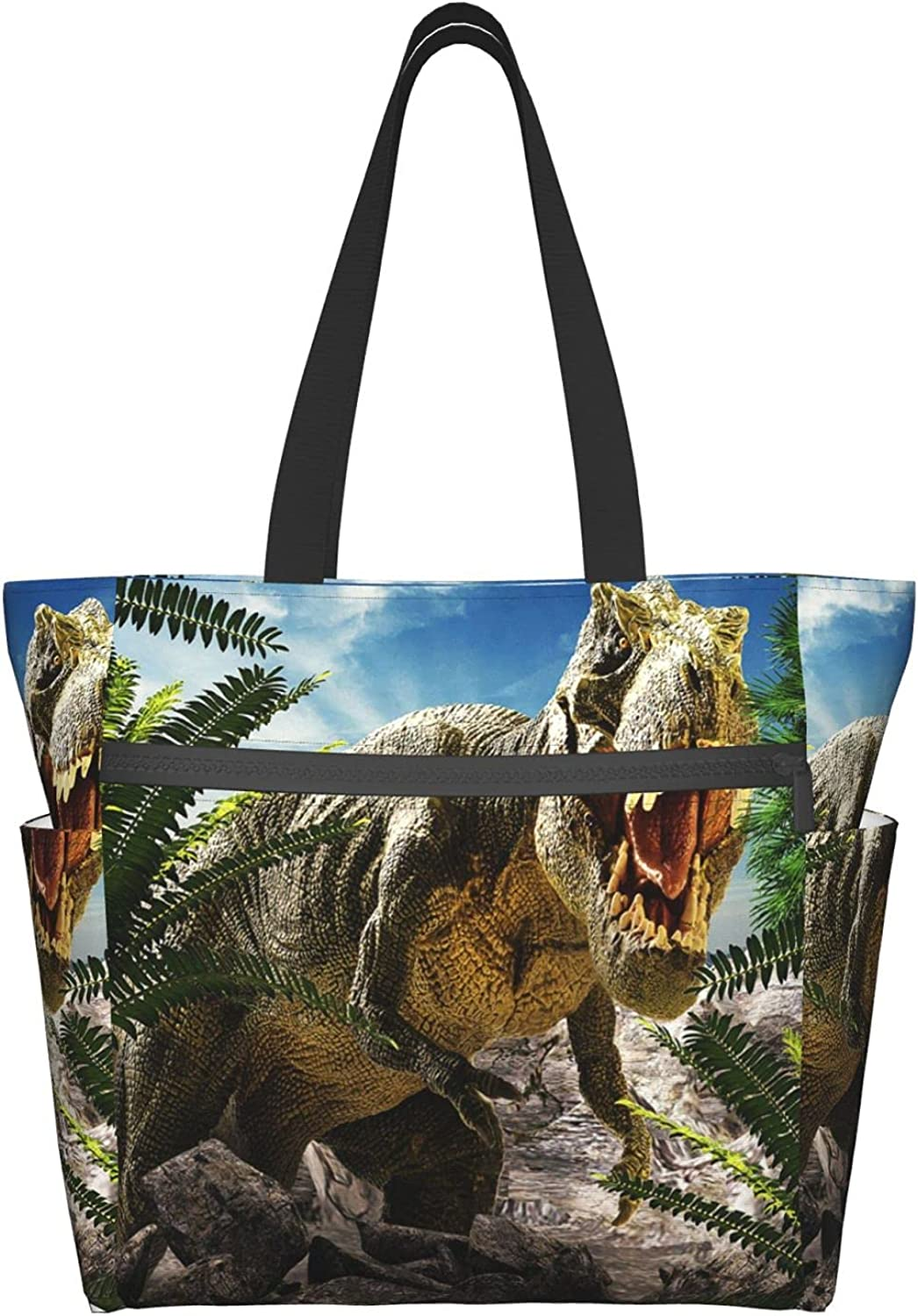 Elegant Tote Travel Bag For Women 3D 67% OFF of fixed price Dinosaur Shoulder With Poc Many