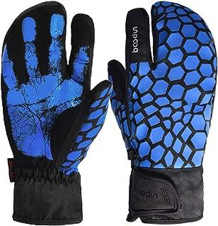 【 選べるカラー 】monoii スノーボード グローブ ミトン スマホ タッチ レディース メンズ スノボ スキー 手袋 3本指 防水 冬 女性 男性