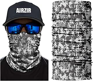 Airzir Outdoor Camo Face Mask, Breathable Seamless Tube Dust-proof Windproof UV Protection Motorcycle Bicycle ATV Face Mask for Motorcycling Cycling Hiking Camping Climbing Fishing Hunting