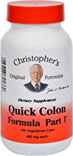 Dr. Christophers Quick Colon Part 1 - 475 mg - 100 Vegetarian Capsules (Pack of 2)