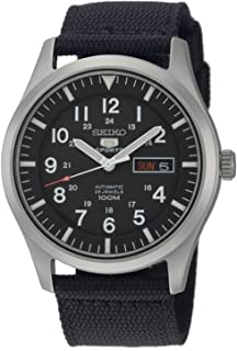 Men's SNZG15 Seiko 5 Automatic Stainless Steel Watch with Nylon Strap